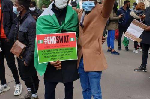 Endsars protesters in France